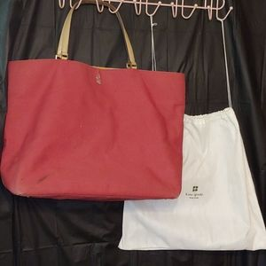 Kate Spade large tote & dust bag